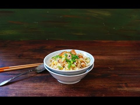 Fried Rice With Chicken And Salted Fish