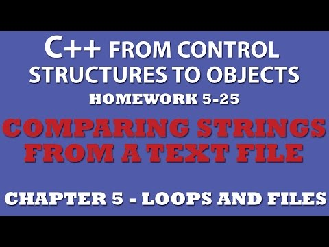 5-25 C++ Comparing Strings From a Text File (Working with external text files)