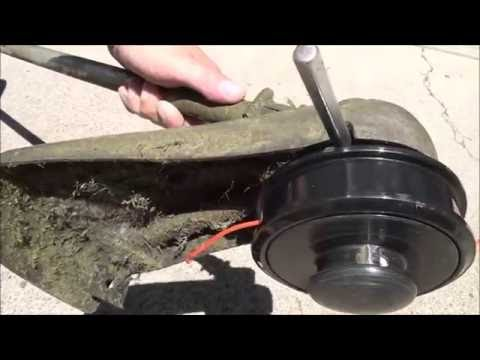 HOW TO REMOVE and REPLACE the Cutting HEAD on an ECHO WEEDEATER WEEDTRIMMER WEEDWACKER