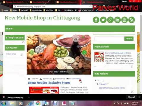 How To Create a Blog Tutorial in bangla Part 2