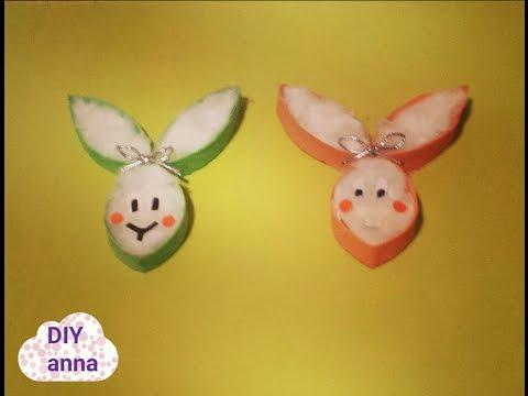 easter bunny decoration DIY paper craft tutorial / URADI SAM