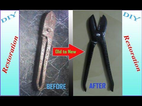 Restoration a Tin Snip Cutter, or Metal Sheet Cutter,Rust Removal .