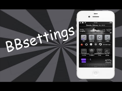 BBsettings Notification Center Widget For iOS 5.1.1 iPhone, iPod Touch & iPad