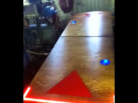 beer pong table!! with washing ball machine and lights !!