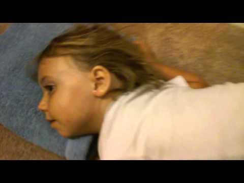 Lily getting Hydrogen Peroxide in her ear