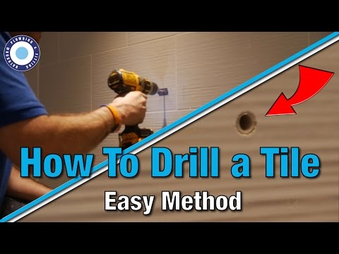 How to Drill a Hole in a Ceramic Tile | Tutorial | Video Guide | DIY | Screwfix