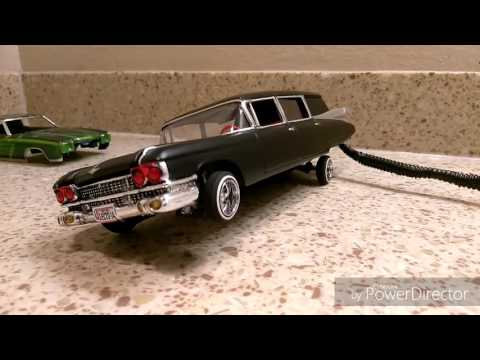 Eddieblcc Ghostbusters hearse low rider model car, 3 wheel and lil hop.