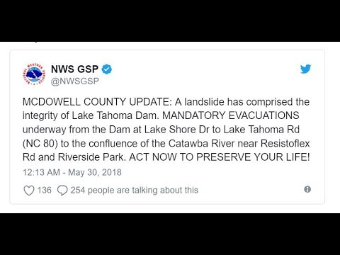 Cancelled- North Carolina DAM Failure Imminent due to Mudslide Damage!
