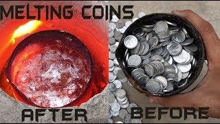 Melting Money (1000 coins) || Cash into trash