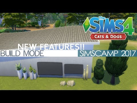 The Sims 4 Cats & Dogs - SIZING OBJECTS DOWN!! (NEW BUILD MODE FEATURES)