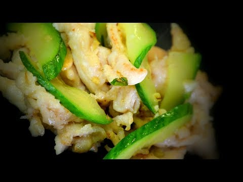 Chinese Chicken & Cucumber Stir Fry (Chinese Style Cooking Recipe)