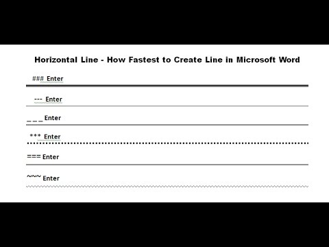 How fastest to create line in Microsoft word [ 5 ways ]