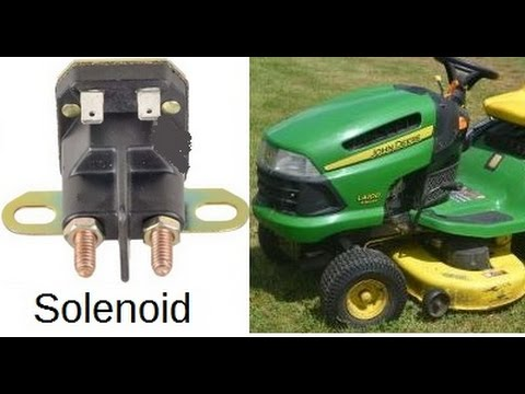 How to Replace Trombetta Solenoid 12V PN 7641211210 on John Deere LA100 Riding Lawnmower