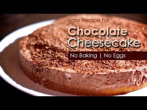 How to Make Chocolate Cheese Cake / Pie  - No Baking | No Eggs