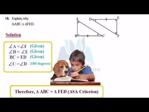 Congruence of Triangles 7.2