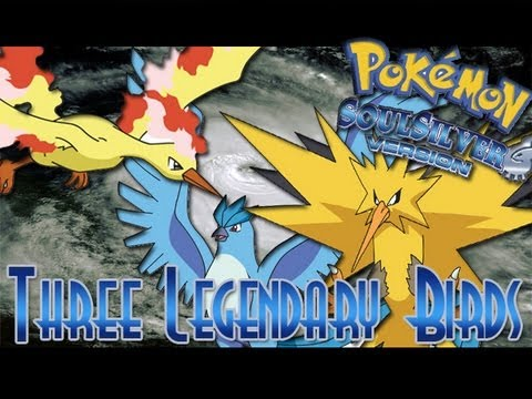 Pokemon Soul Silver - How to Catch Three Legendary Birds [US Version]