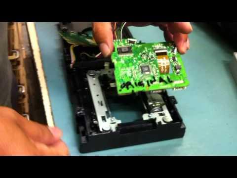 XBOX SLIM REPAIR REPLACE DVD DRIVE LITE-ON FLASH GUIDE BY KIBUB