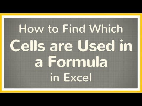 How to Find Cells Used in Formulas in Excel - Tutorial