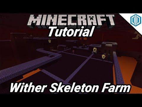 Minecraft 1.11 Wither Skeleton Farm Tutorial