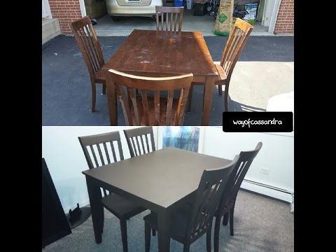Spray painting my dining room table!