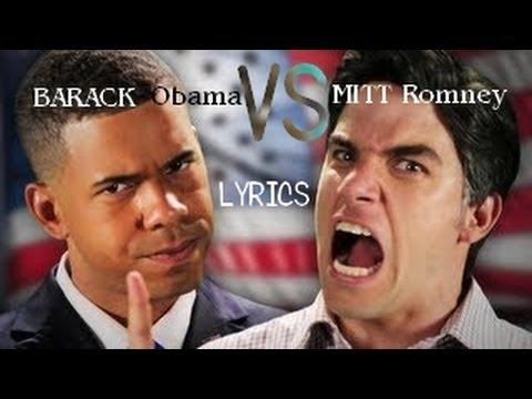 Barack Obama VS Mitt Romney - Lyrics. Epic Rap Battles Of History Season 2. ERB 23.