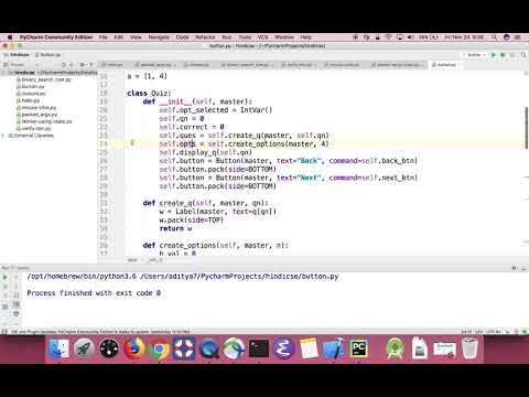Python GUI: Creating a quiz app using tkinter in Hindi