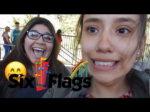 Fun Day at SIX FLAGS !!! Six flags VLOG and getting KICKED OUT of the Casino !!