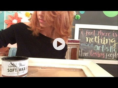 How To Use Annie Sloan Chalk Paint on a Frame Part 2: Detailing with Dark Wax
