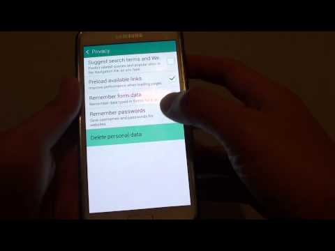 Samsung Galaxy S5: How to Clear Website Cookies and Data