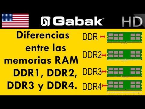 Diferencias entre memorias DDR1 vs DDR2 vs DDR3 vs DDR4