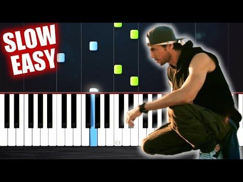 Enrique Iglesias - SUBEME LA RADIO - SLOW EASY Piano Tutorial by PlutaX