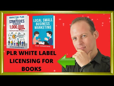 PLR (Private Label Rights) for books and ebooks or white label licensing for books