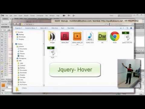 Dreamweaver Tutorial:JQuery Hover Event