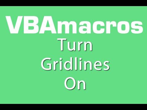 Turn Gridlines On - VBA Macros - Tutorial - MS Excel 2007, 2010, 2013