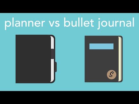 planner vs. bullet journal