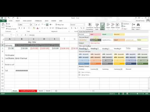 Microsoft Excel 2013/2016 pt 5 (Format, Insert/Delete, Concatenate, Text to Column)