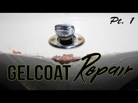 Boat Fiberglass Gelcoat Repair - Part 1