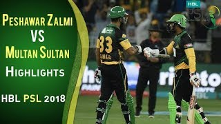 Peshawar Zalmi Vs Multan Sultans  I Full Highlights   22 February    HBL PSL 2018   PSL