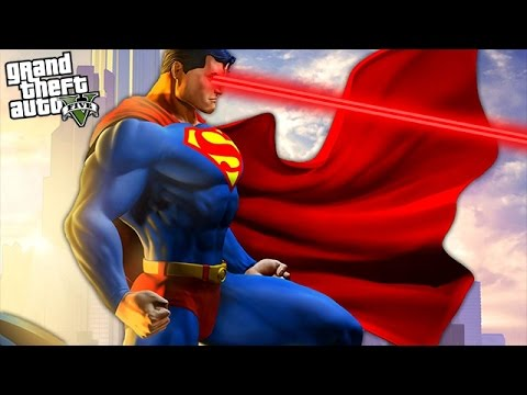 GTA 5 Mods - SUPERMAN MOD w/ SUPERMAN POWERS, SUPERGIRL, INCREDIBLE HULK FIGHT! (GTA 5 Mods)