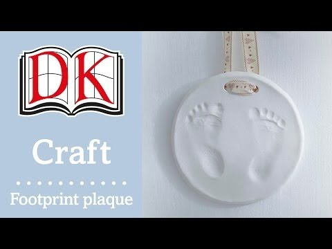 How to Make a Baby Footprint Plaque