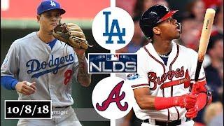 Los Angeles Dodgers vs Atlanta Braves Highlights || NLDS Game 4 || October 8, 2018