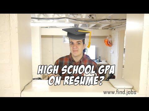 Should I put my High School GPA on my Resume?