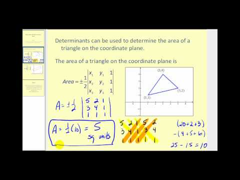 Application of Determinants:  Area on the Coordinate Plane