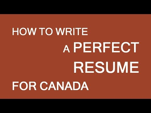 Resume for employment in Canada. Basic info. LP Group