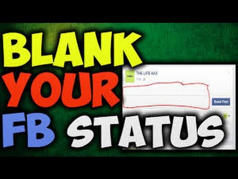 how to upload empty status on Facebook 2017