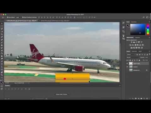 How to give an airplane a new paint job.  Adobe Photoshop CC Tutorial