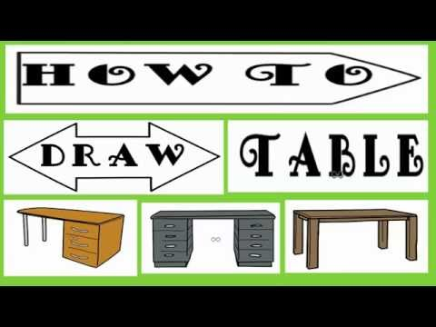 How To Draw Tables | How To Draw Tables Easily| Funny  Tables Draw
