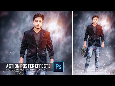 Action movie poster effect in Photoshop tutorial by Hass Hasib