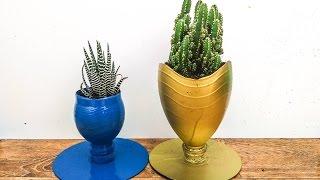 DIY - How To Make Flower Pots With Bottle - Reuse Crafts