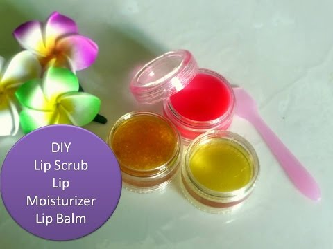 DIY - Lemon lip scrub, lip moisturizer & Lip Balm - for soft beautiful lips -